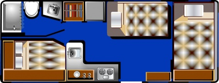 Floor plan - Road Bear RV, C21-23