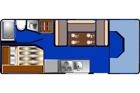 Floor plan - Road Bear RV, C21-24