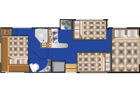 Floor plan - Road Bear RV, C27-30S