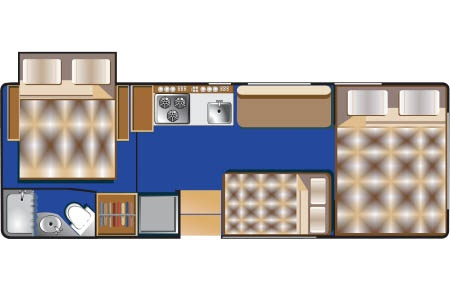 Floor plan - Road Bear RV, C25-27S