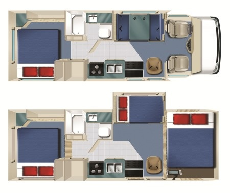 Floor plan - Star RV, C28-31S