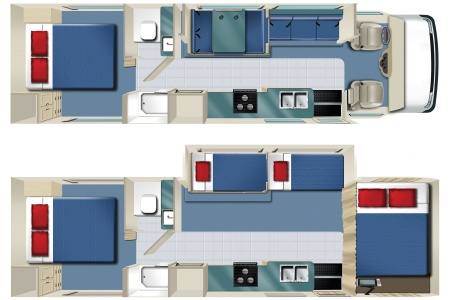 Floor plan - Star RV, C31S (C30-33) (2017)
