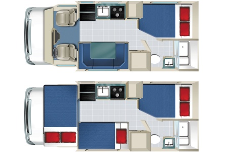 Floor plan - Star RV, C22-25