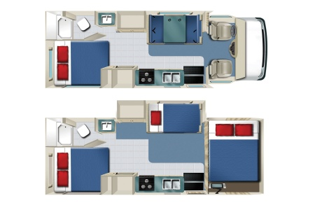 Floor plan - Star RV, C25S (C25-27)
